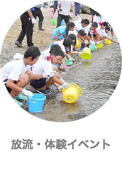 下松市栽培漁業センターの放流・体験イベント